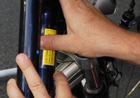 Fahrrad-Codierung, © ADFC Ahrensburg