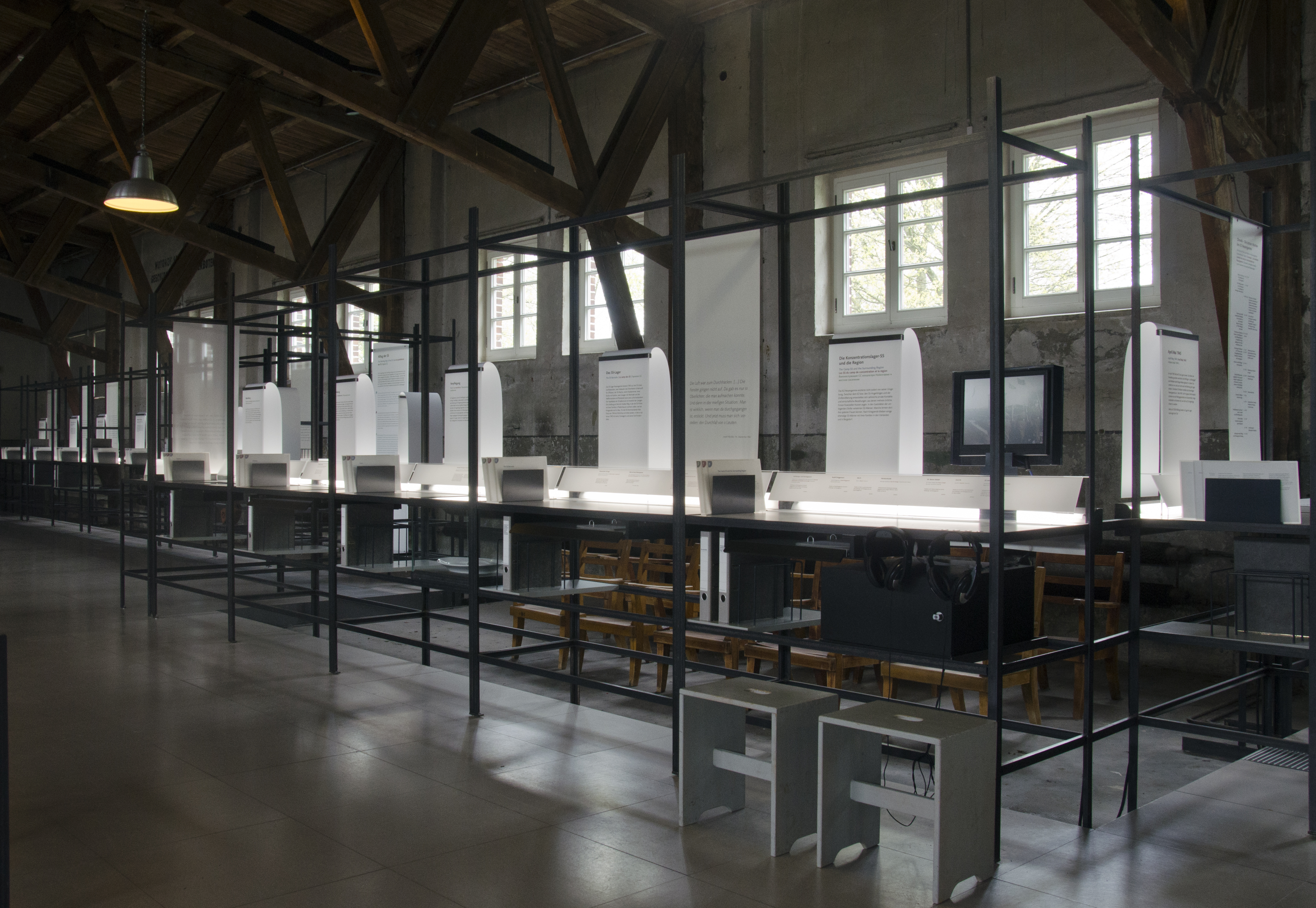 Dienststelle KZ Neuengamme: Die Lager-SS in Hamburg, Ausstellung, 09.06.2018, KZ-Gedenkstätte Neuengamme - Copyright KZ-Gedenkstätte Neuengamme, Foto: Emily Mohney