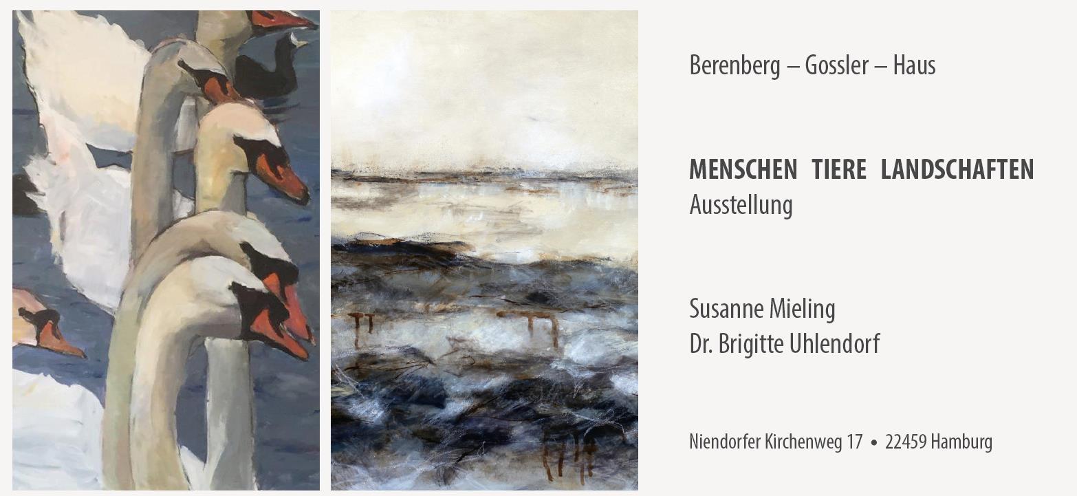 Menschen - Tiere- Landschaften in Hamburg, Ausstellung, 23.11.2017, Berenberg-Gossler-Haus - Copyright Susanne Mieling Dr. Brigitte Uhlendorf