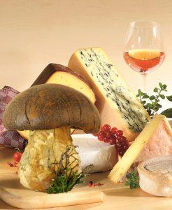Käse trifft Pilz