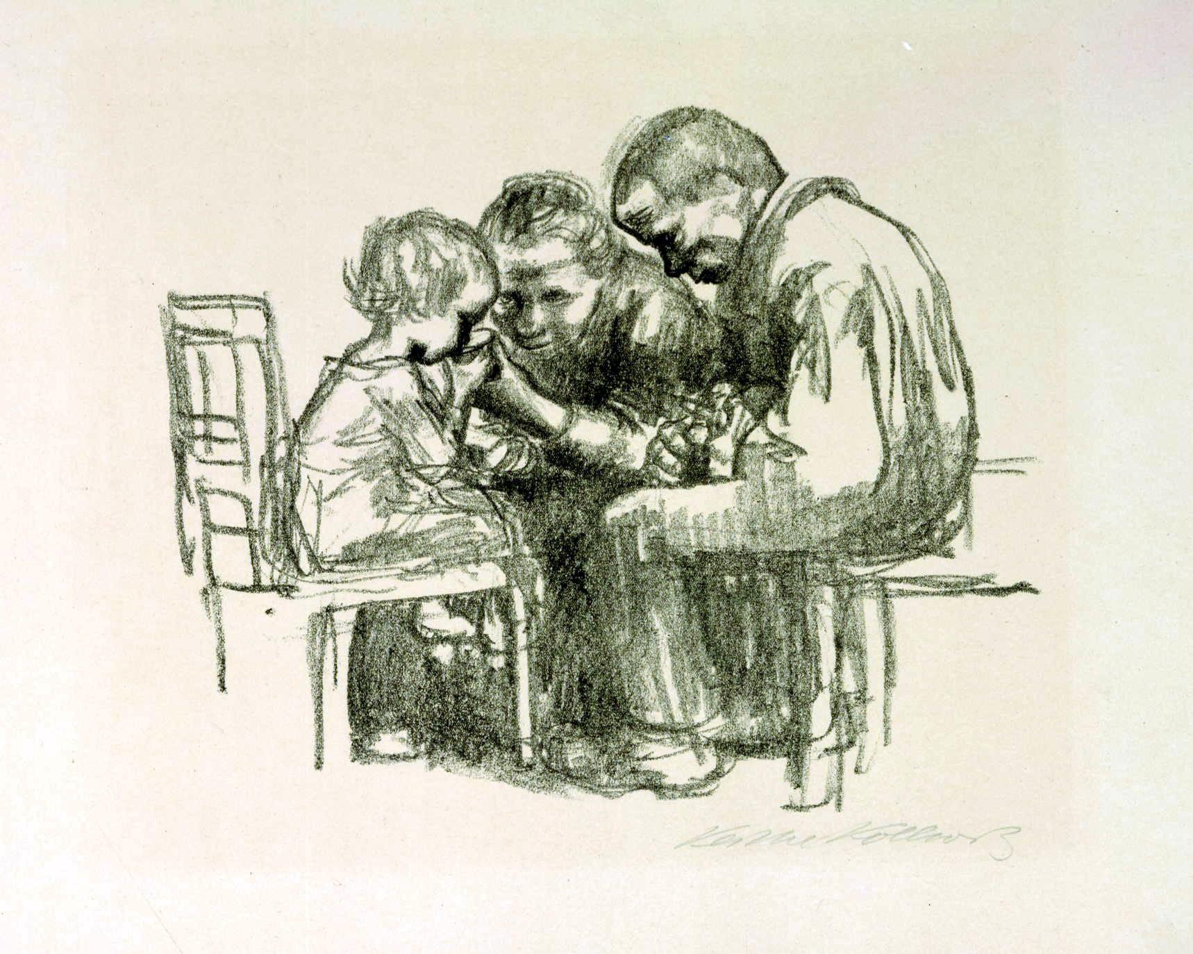 Im Kinderhospital_Kollwitz_1926