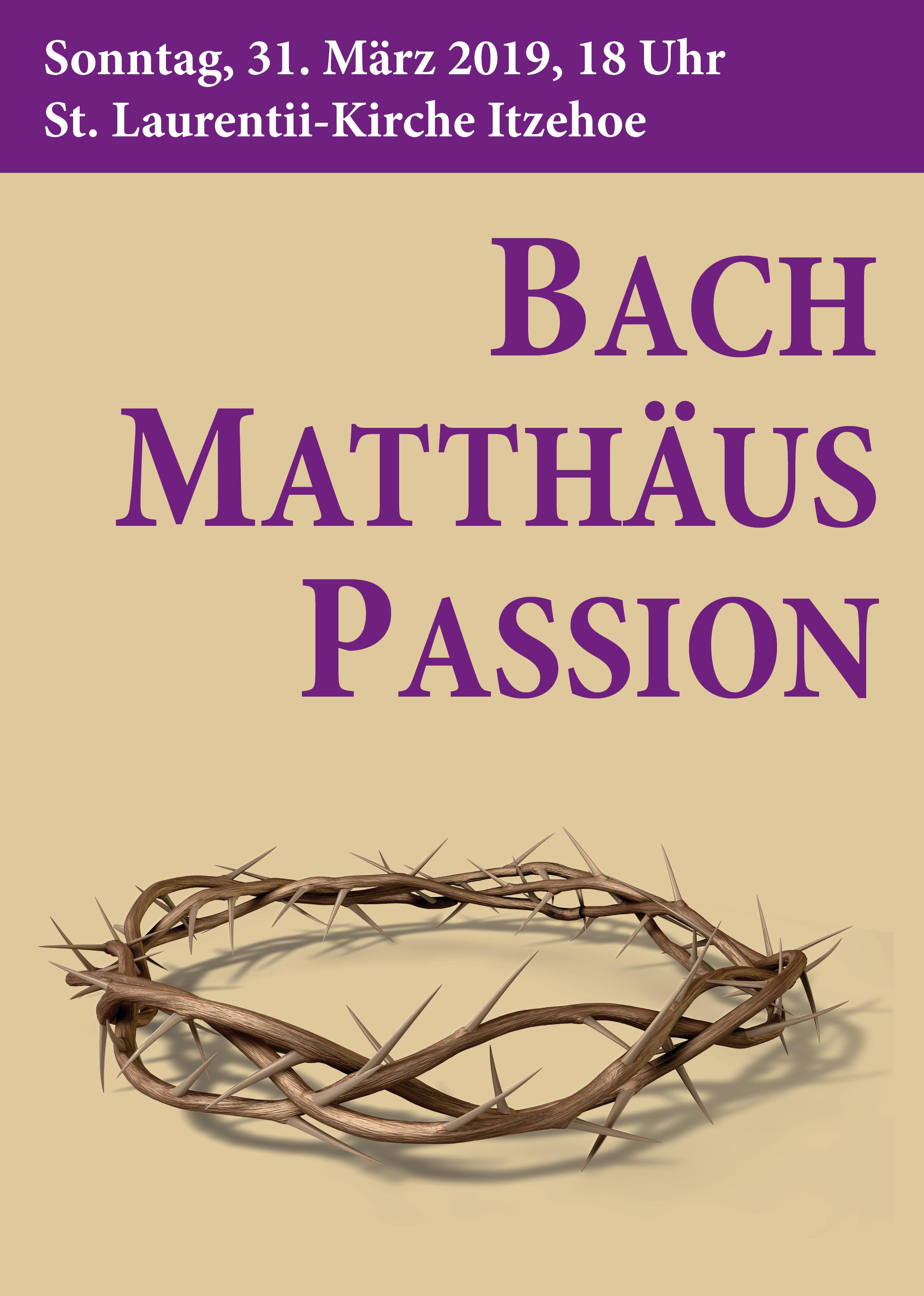 Plakat Matthäuspassion