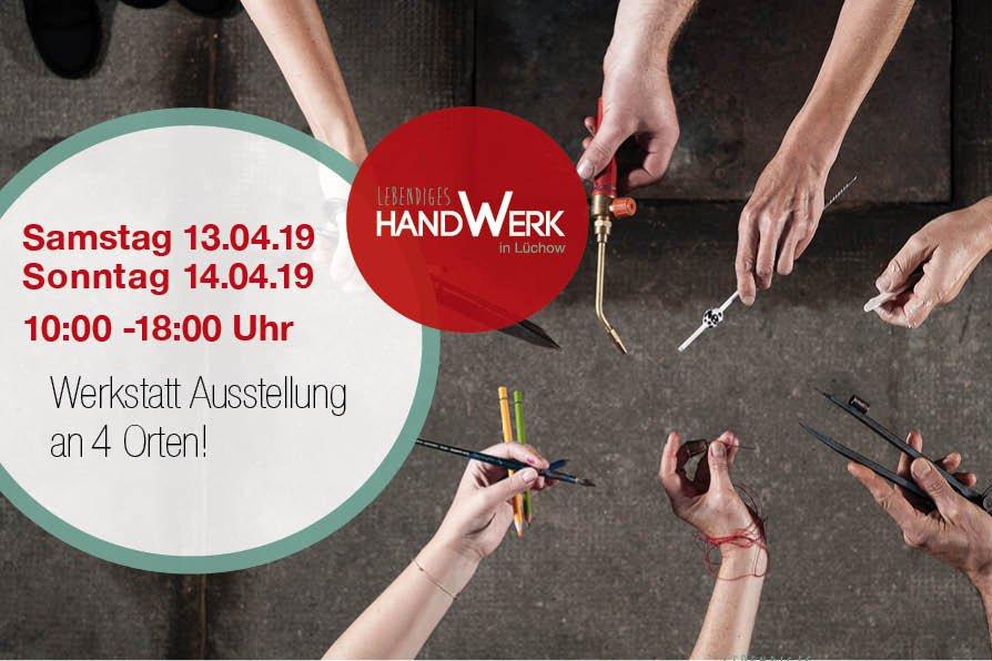 Plakat Ausstellung lebendiges Handwerk in Lüchow
