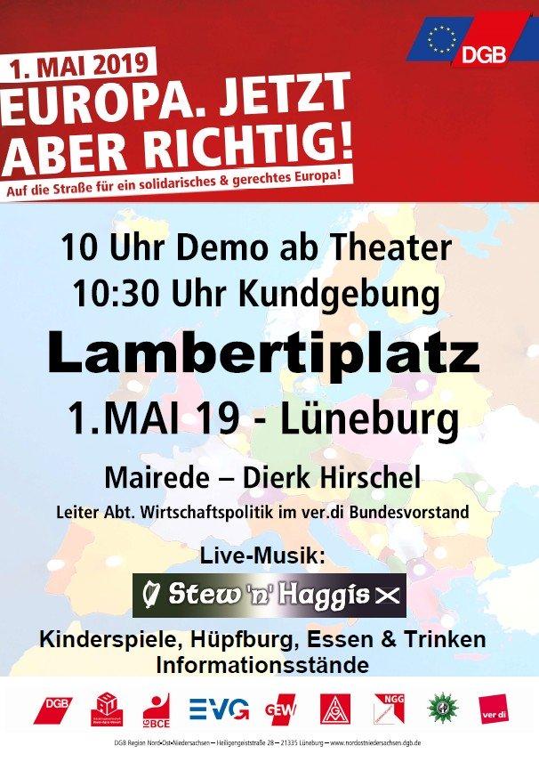 Mai-Kundgebung Lüneburg
