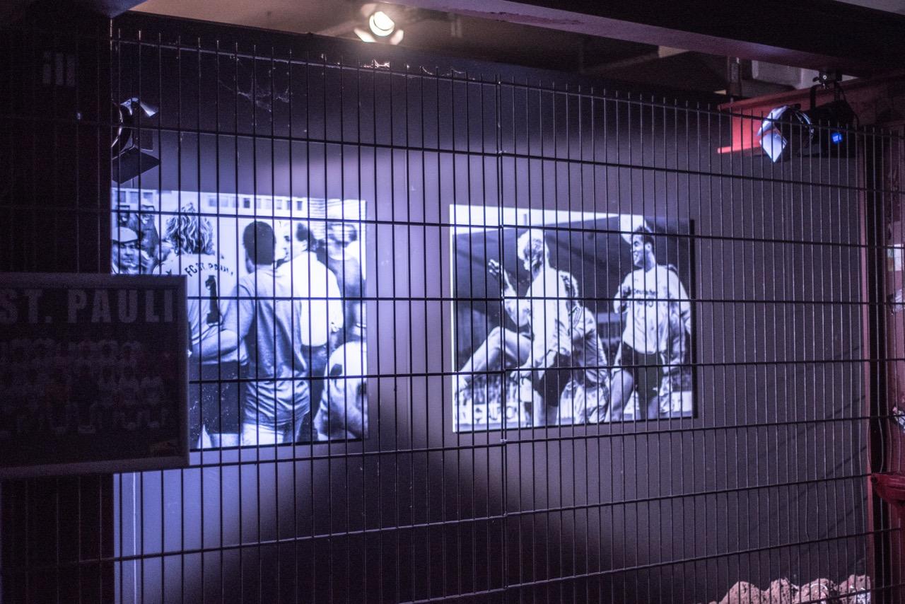 Die KIEZBEBEN-Ausstellung am Millerntor bietet über 180 großformatige Fotos