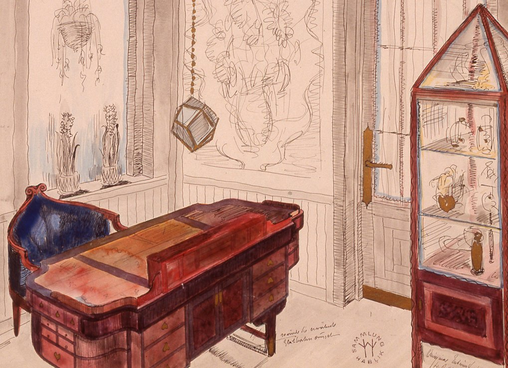 Wenzel Hablik, Zimmer der Frau, Haus Lois Frese, 1919