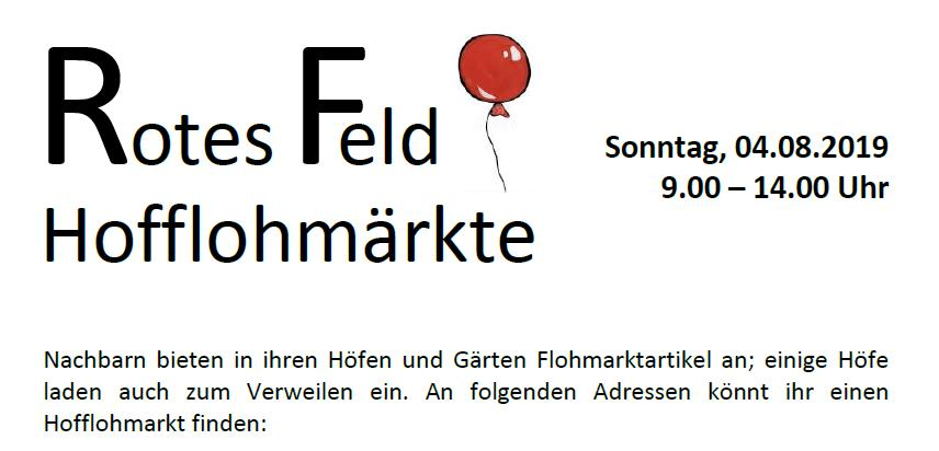 Flohmarkt_ROTES FELD_04.08.2019_Plakat