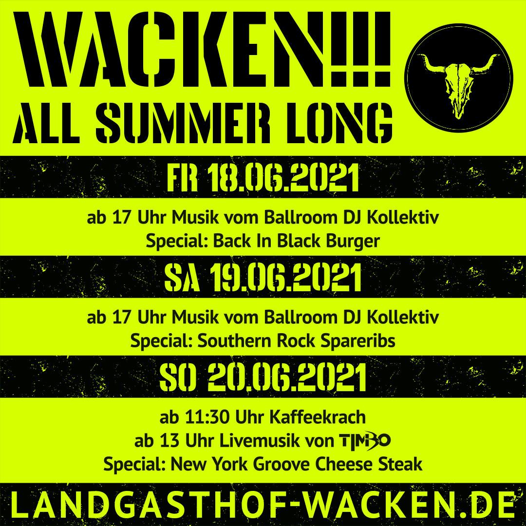Wacken All Summer long - Biergarten mit Musik