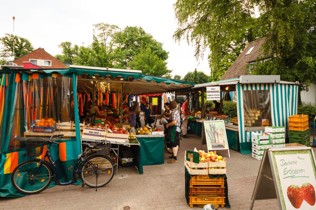 Wochenmarkt in der Grelckstraße