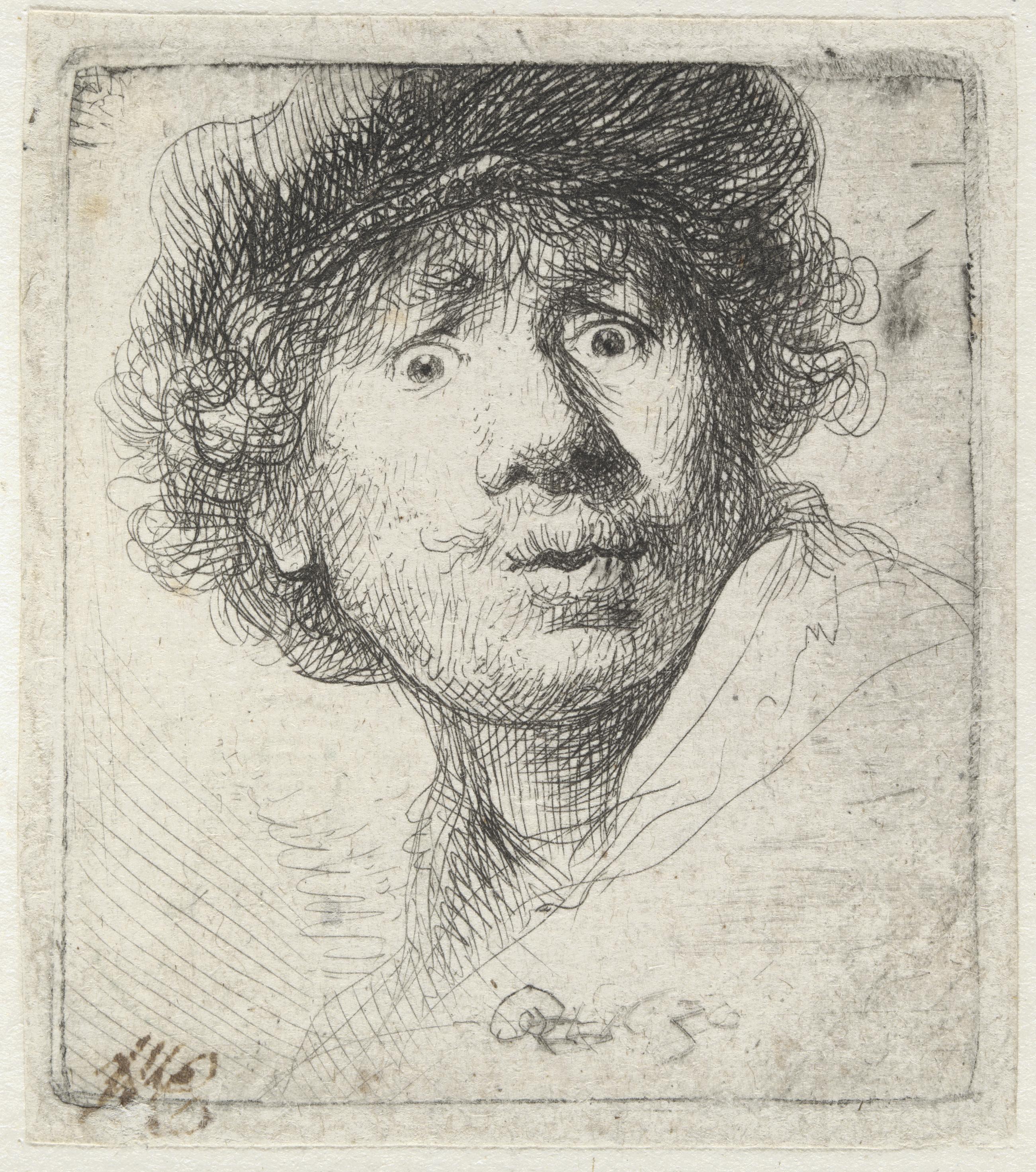 Rembrandt: Selbstbildnis mit Mütze