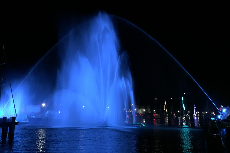 Wasserfontänen beim Lampionfest