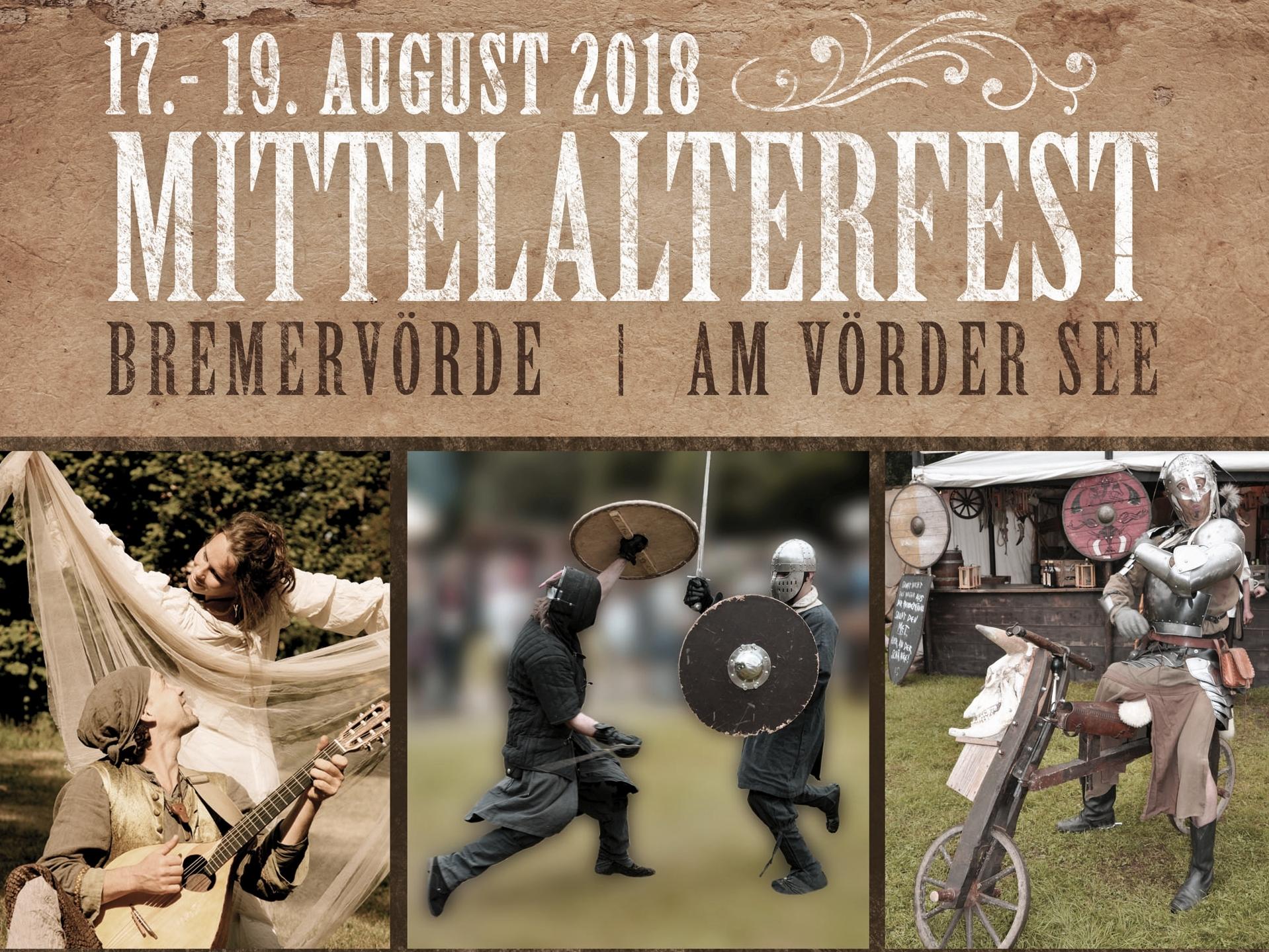 Mittelalterfest am Vörder See in Bremervörde, Fest, 19.08.2018, Vörder See - Copyright Natur- und Erlebnispark Bremervörde GmbH