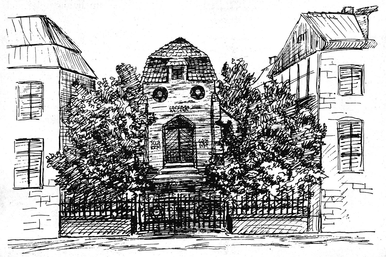 Zeichnung der jued. Synagoge
